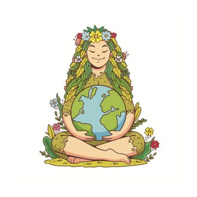 Mutter Erde Wandaufkleber